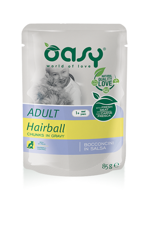 Oasy Cat Adult Con Hairball 85 GR