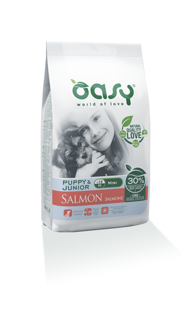 Oasy Puppy&Junior one Protein Mini Salmone 2,5 Kg