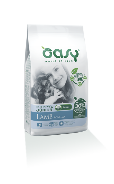 Oasy Puppy&Junior one Protein Mini Agnello 2,5 Kg