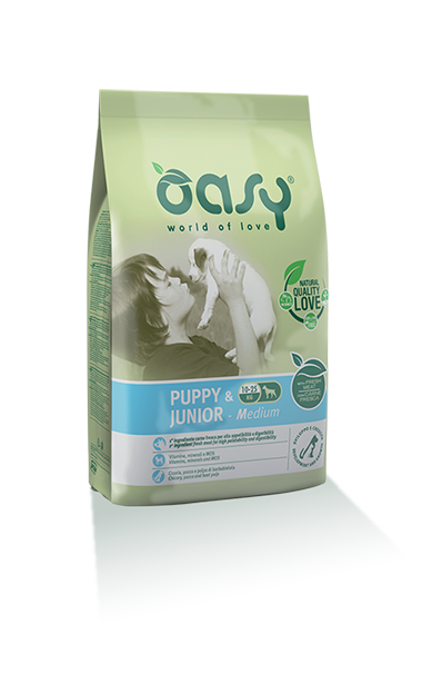 Oasy Puppy&junior Medium Breed Pollo 12 Kg