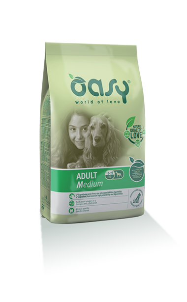 Oasy Adult Medium Breed Pollo 12 kg