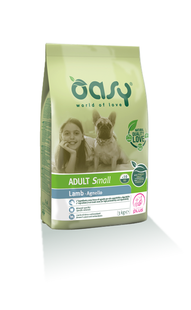 Oasy Adult Small Breed Agnello 3 kg