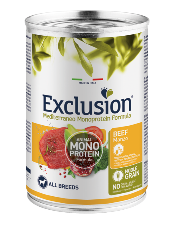 Exclusion Adult Manzo All Breeds 400 Gr