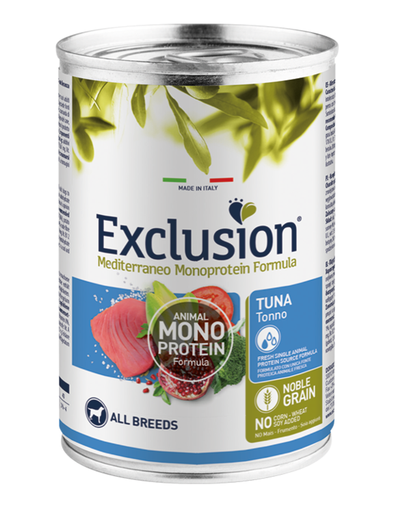 Exclusion Adult Tonno All Breeds 400 Gr