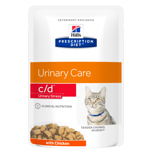 Hill's Prescription Diet c/d Feline Urinary Stress con Pollo 85 gr x 12 Bustine