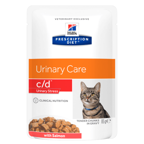 Hill's Prescription Diet c/d Feline Urinary Stress con Salmone 85 gr x 12 Bustine