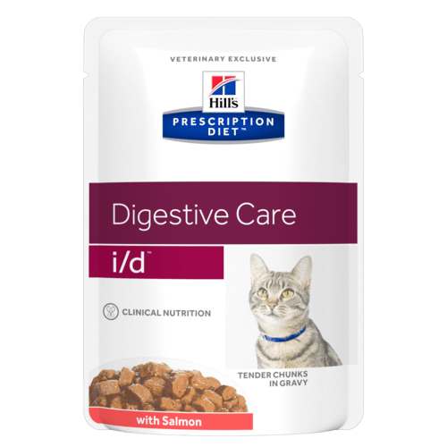 Hill's Prescription Diet i/d Feline Con Salmone 85 gr x 12 Bustine