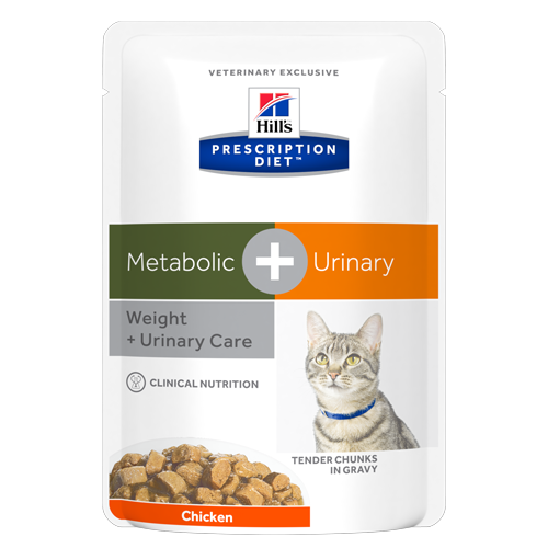 Hill's Prescription Diet Metabolic+Urinary Feline Pollo  85 gr x 12