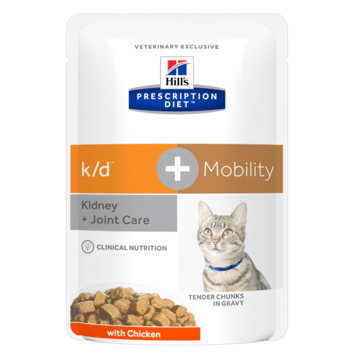 Hill's Prescription Diet k/d+Mobility Feline Pollo 12 x 85 gr