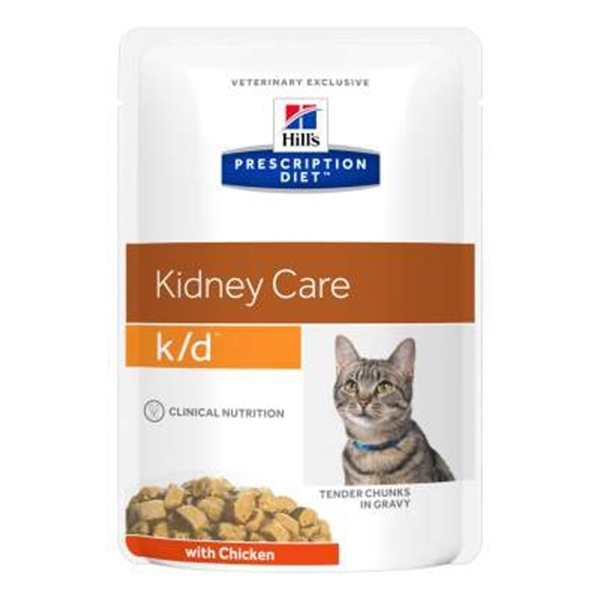 Hill's Prescription Diet k/d Feline Pollo 12 x 85 gr