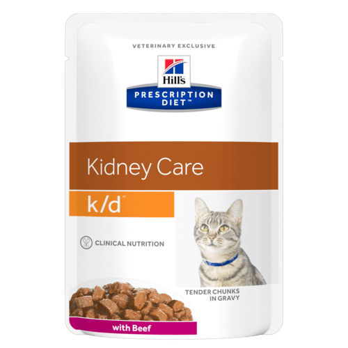 Hill's Prescription Diet k/d Feline Manzo 12 x 85 gr