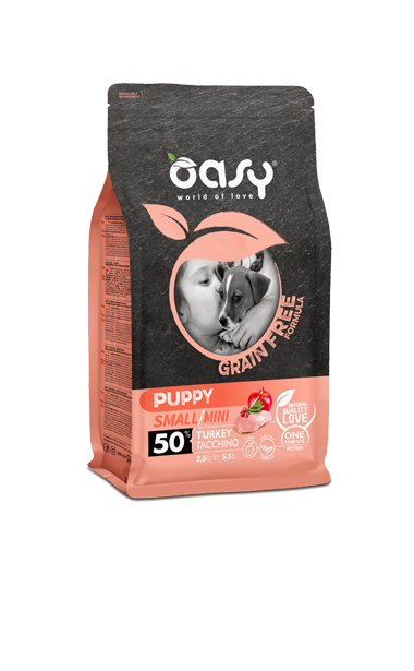 OASY PUPPY SMALL / MINI TACCHINO GRAIN FREE 800 GR