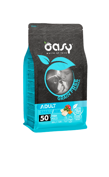 OASY ADULT SMALL / MINI PESCE GRAIN FREE 800 GR