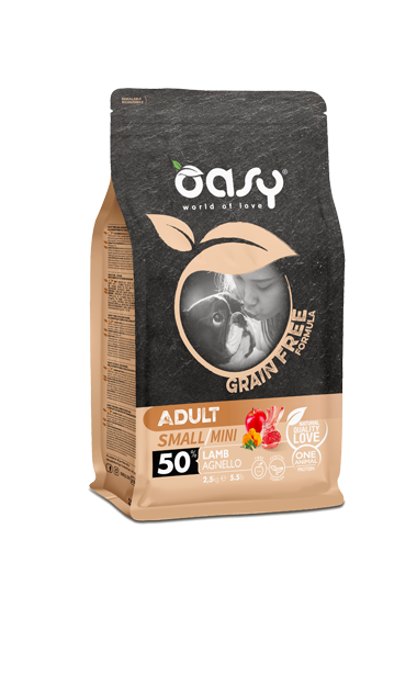 OASY ADULT SMALL / MINI AGNELLO GRAIN FREE 800 GR