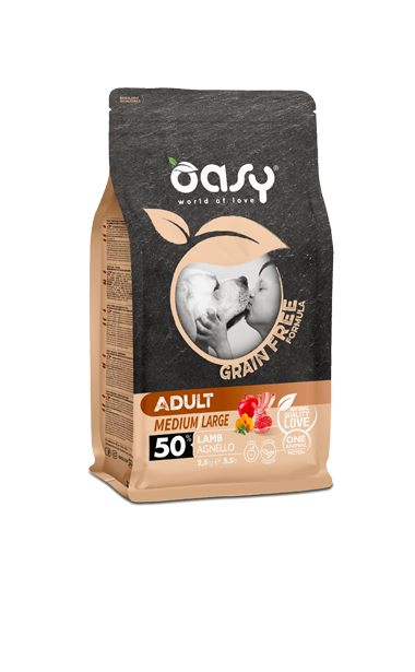 OASY ADULT MEDIUM / LARGE AGNELLO GRAIN FREE 2,5 KG