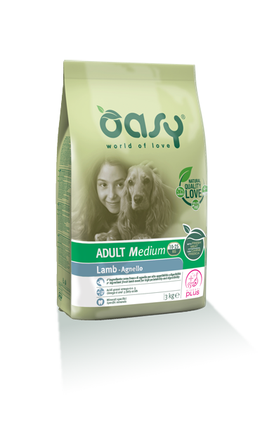 Oasy Adult Medium Breed Agenello 12 kg