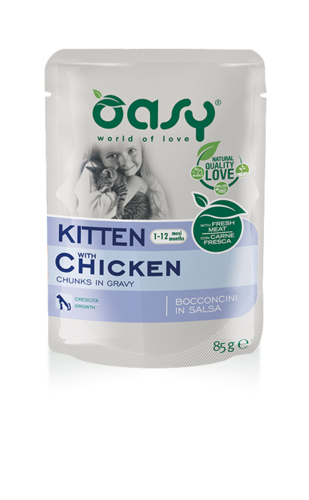 Oasy Cat Kitten Con Pollo 85 GR