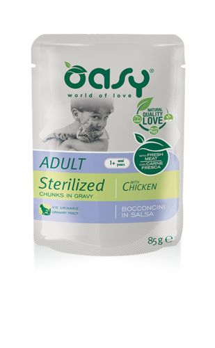 Oasy Cat Adult Sterilized Con carni Bianche 85 GR