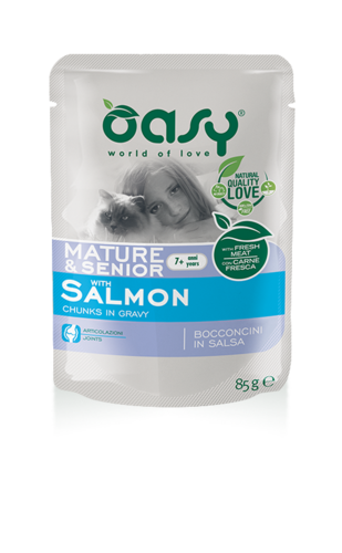Oasy Cat Mature&Senior 7+Anni Con Salmone 85 GR