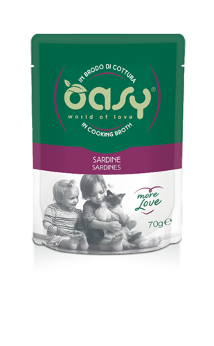 Oasy Cat Sardine In Brodo Di Cottura 70 GR