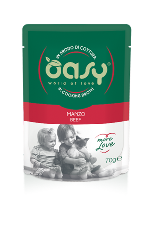 Oasy Cat Manzo In Brodo Di Cottura 70 GR
