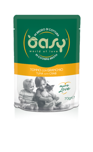 Oasy Cat Tonno Con Granchio In Brodo Di Cottura 70 GR